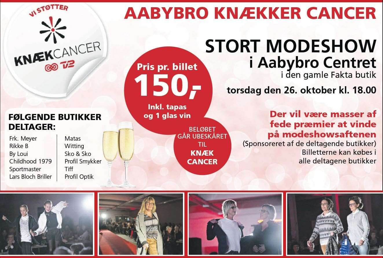 knæk cancer modeshow